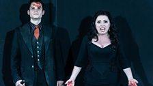 Matt Casey as Flavio, and Rebecca Evans as Rodelinda