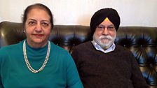Inderjit and Kulwant Selhi. Kulwant came to the UK from Bombay in 1954 on his 18th Birthday.