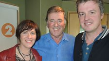 Eleanor McEvoy and her keyboardist, Cathal, with Sir Terry Wogan.