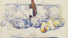 Still Life with Carafe, Bottle, and Fruit
