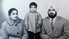 Gunwant Grewal with her husband and daughter Shabnam