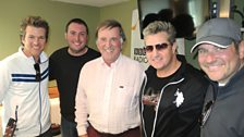 Country music stars Rascal Flatts with Sir Terry.