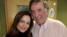 Sir Terry Wogan with Belinda Carlisle.