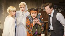 Jemima Rooper, Janie Dee, Angela Lansbury and Charles Edwards in Blithe Spirit