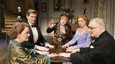 Serena Evans, Charles Edwards, Angela Lansbury, Janie Dee and Simon Jones in Blithe Spirit