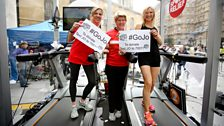 Clare Balding and Sally Gunnell join Jo