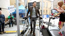 Peter Andre on the treadmill