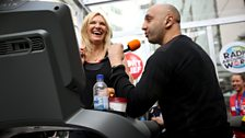Tommy Sandhu from the Asian Network giving Jo some encouragement