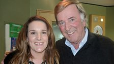 Sir Terry with reigning X Factor champion Sam Bailey.