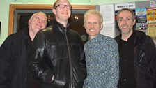 Roger Davies with Lee, David and Mark Durberville at BBC Leeds