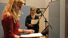 Emma Harding working with Hattie Morahan