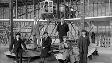 A Wight Seaplane under construction by the Portholme Aerodrome Company. The first flight from Portholme was made in April 1910.