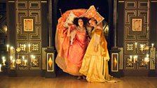 Susanna Hurrell as Erisbe and Rachel Kelly as Mirinda