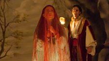 Joelle Harvey as Sicle and Ed Lyon as Amidas