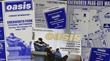 Oasis play Knebworth Park on 10 & 11 August 1996