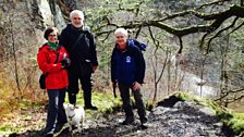 Felicity meets botanist Ray Woods (left), Alan Bowring of the Brecon Beacons National Park Authority (right)