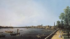 Giovanni Antonio Canal (Canaletto), London: The Thames from Somerset House Terrace towards Westminster, c.1750