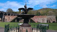 Boy and Swan Fountain cast by the Coalbrookdale Company in 1851 for the Great Exhibition
