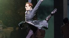 Edward Watson as Leontes in Act I of The Winter's Tale