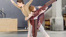 Lauren Cuthbertson and Edward Watson in rehearsal for The Winters Tale