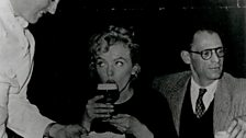 Marilyn Monroe enjoys Irish coffee at Shannon Airport