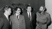 Fidel Castro stops over at Shannon