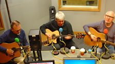 3 Boxes: guitar virtuosi Andy Roberts, Mark Griffiths and Clive Gregson playing at BBC Leeds
