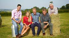 The Countryfile team: Matt Baker, Ellie Harrison, Adam Henson, Tom Heap and John Craven