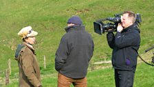 Mark Smeaton filming Tom Heap and Princess Anne