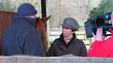 Princess Anne and Tom with Windy the Suffolk Punch