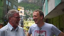 Misha meets Anthopologist Peter Fry in Rocinha