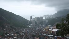 The view from Misha's window, over the favela of Rocinha