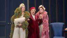 Rachelle Durkin as Clorinda, Alessandro Corbelli as Don Magnifico, and Patricia Risley as Tisbe