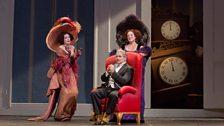 Rachelle Durkin as Clorinda, Pietro Spagnoli as Dandini, and Patricia Risley as Tisbe