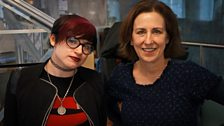 Kirsty with blogger and journalist Laurie Penny
