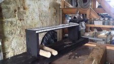 The 'Puffin Piano' under construction