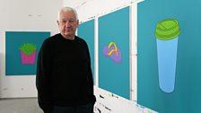 Michael Craig-Martin in his London studio