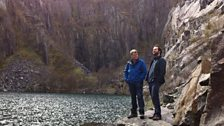 Dave Holmes in the quarry at Llanberis in North Wales