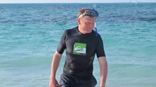 Tom checks out the health of coral reefs on Turks and Caicos