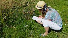 Jenny Matthews sketching flowers