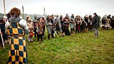Charlie Allan addressing his Clanranald combat team