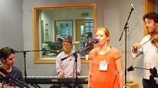 Rakish playing live at BBC Leeds
