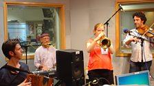 Rakish with bugle at BBC Leeds