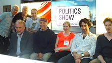 Rakish with Folk Weekend organiser Roland Walls and David, Lee and Mark Durberville at BBC Leeds