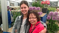 Mum and me: Mum Trinh Johns and daughter Emma Johns at RHS Chelsea flower show