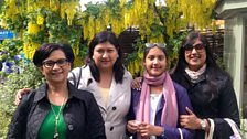 Mum and me: Shaliza Lutchmansingh with daughters Charmaine and Anisa, and granddaughter Anja Sadeek