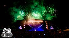 Fireworks at the climax of Radio 1's Big Weekend 2014