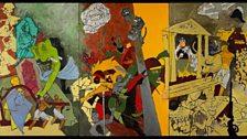 M.F. Husain, Three Dynasties, 2008-2011