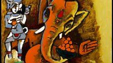 M.F. Husain, Ganesha, 2008