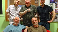 John Conolly and Rob Van Sante with David, Lee and Mark Durberville at BBC Leeds